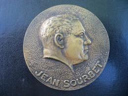 Ancienne Médaille Bronze  Signée M Le Verrier. JEAN SOURBET Union Nationale Des Coopératives Agricoles - France