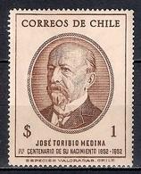 Chile 1953 - The 100th Anniversary Of The Birth Of Toribio Medina, 1852-1930 - Chile
