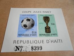 Miniature Sheet Football World Cup Pele Santos - Haiti