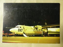 DLT   FOKKER 50  AIRLINE ISSUE / CARTE COMPAGNIE - 1946-....: Moderne