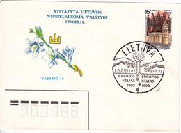 Lituanie   Lietuva 1990  Special Cancell - Lithuania