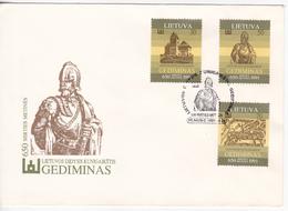 Lituanie   Lietuva 1991  History Gediminas FDC - Lithuania