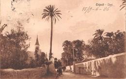 "0552 ""TRIPOLI - LIBIA - OASI"" CART. ORIG. SPED. 1926 AFFRANCATURA COLONIALE - Libia"