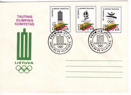 Lituanie   Lietuva 1992  Olimpiade Albertville FDC - Lithuania