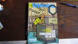 TINTIN TELERAMA COUVERTURE TINTIN   HERGE - Tintin