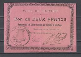 Bon Nécessité  Ville De LOUVIERS  Bon De 2.00F - Bonos