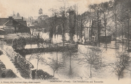 Domfront - Les Inondations Aux Tanneries G Hubert - Domfront