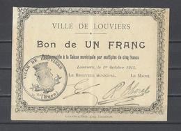 Bon Nécessité  Ville De LOUVIERS  Bon De 1.00F - Bonos