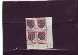 N° 899 - 10c Blason De L'ARTOIS - B De A+B - 2° Tirage Du 2.51 Au 16.5.51 - 10.05.1951 - - Coins Datés