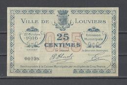 Bon Nécessité  Ville De LOUVIERS  Bon De 25c - Bonos