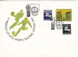 Lituanie   Lietuva 1991 , Sport , Special Cancell - Lithuania