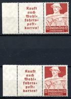 Drittes Reich MiNr. W 101 Dgz + Ndgz Postfrisch MNH (X753 - Se-Tenant
