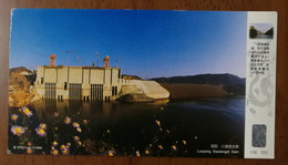 Total Installed Capacity 1.8 Million KW,dam,CN 00 Xiaolangdi Multipurpose Hydro Power Project Advert Pre-stamped Card - Water