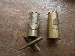 1 Douille De 37 Artisanat De Poilu WW1 REIMS - 1914-18