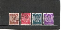 YOUGOSLAVIE    1935-36  Y. T. N° 277  à  289  Incomplet  Oblitéré - 1931-1941 Royaume De Yougoslavie