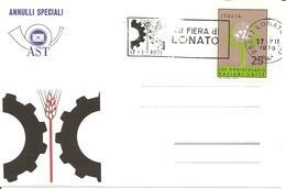 ITALIA - 1970 LONATO (BS) XIII Fiera Di Lonato (ingranaggio) - Annullo A Targhetta - Vacanze & Turismo