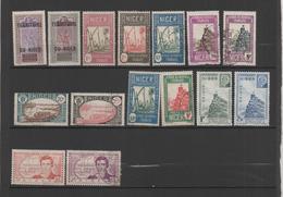 Niger 15 Timbres 1921-41 (oblitérés Et Neufs Sans Gomme) - Níger (1921-1944)