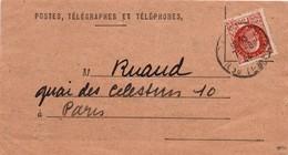 PTT 1944 - Avis De Réception Ou De Paiement - Scan Recto-verso - Paris & La Jonchères St-Maurice Sur Pétain - Postmark Collection (Covers)
