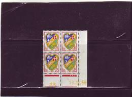 N° 1232 - 0,15F Blason D'ALGER - A De A+B - 1° Tirage Du 14.12.59 Au 15.2.60 - 16.12.1959 - - Coins Datés