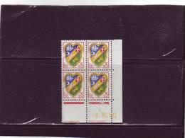 N° 1232 - 0,15F Blason D'ALGER - D De C+D - 1° Tirage Du 30.9 Au 7.10.60 - 6.10.1960 - - Coins Datés