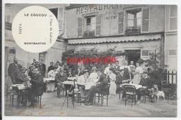 """75-paris 18- 7 Place Du Calvaire - Restaurant """" Le Coucou """" - Montmartre (animé Tb) - Arrondissement: 18"""