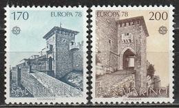 San Marino 1978 - EUROPA - C.E.P.T. - 2 Valori MNH ** - San Marino