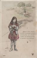Militaria : Patriotiques : Jeanne D'arc Enfant - Armée ( Photo. SAZERAC ) - Patriotiques