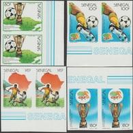 Sénégal 1988 Y&T 758 à 761. Coupe D'Afrique Des Nations De Football à Rabat. Non Dentelés, En Paires - Africa Cup Of Nations