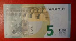 GREECE 5 EURO 2013 DRAGHI SERIE YA 0205970129 Y001G5 UNC FDS NEW BANKNOTE NUOVA BANCONOTA - 5 Euro