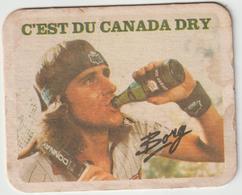 Sous-bocks - Bock : Tennis  ,  Suède  BORG , Canada Dry - Beer Mats