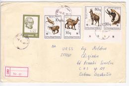 Albanie To Moldova , Animals , Used Cover - Albania