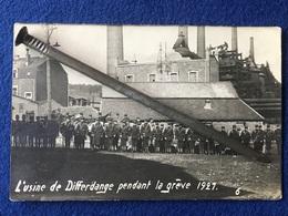 Luxembourg - L'usine De Differdange Pendant La Grêve 1921 - 03.04.21 - Soldats Devant L'usine - Differdange