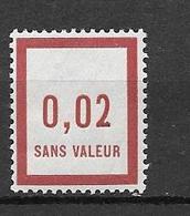 FRANCE FICTIF N°F2 ** Mnh Sans Charnière - Fictifs