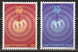 San Marino 1978 - U.I.T. - 2 Valori MNH ** - San Marino