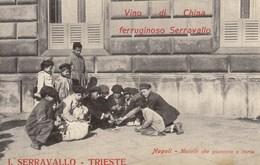 NAPOLI-COSTUMI NAPOLETANI-MONELLI CHE GIOCANO A CARTE -CARTOLINA SCRITTA AL RETRO MA  NON VIAGGIATA ANNO 1910-1920 - Napoli