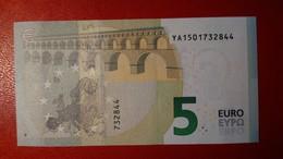 GREECE 5 EURO 2013 DRAGHI SERIE YA 1501732844 Y002H5 UNC FDS NEW BANKNOTE NUOVA BANCONOTA - 5 Euro