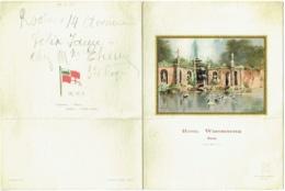 Menu. Navigazione Generale Italiana (N.G.I.)  Hotel Westminster, Nice. 1931. - Menus