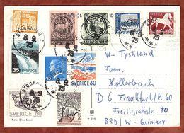 AK Turku Abo, Carl Gustaf U.a., Stockholm Nach Frankfurt 1975 (74251) - Briefe U. Dokumente