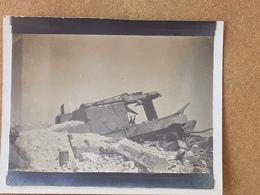 Photo Char Détruit à CRAONNE En 1917 - 1914-18