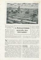 L `Angleterre Peut-elle Etre Envahie ? /  Article , Pris D`un Magazine / 1909 - Books, Magazines, Comics