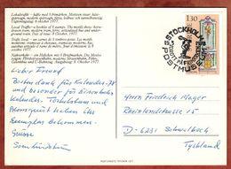 AK Briefmarken, Kachelofen, Postmuseum Stockholm, Nach Schwalbach 1978 (74252) - Briefe U. Dokumente