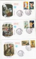 France Lot 3 Enveloppes   FDC 2008 Yvert 4216 à 4221 Personnages Du Cirque - FDC