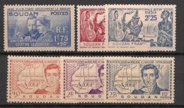 Soudan - 1938-39 - N°Yv. 99 à 104 - Complet - 6 Valeurs - Neuf Luxe ** / MNH / Postfrisch - Soudan (1894-1902)