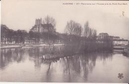 CPA - AUXERRE - 97. Panorama Sur L'Yonne Pris Du Pont Paul-bert - Auxerre