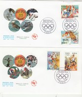 France Lot 2 Enveloppes   FDC 2008 Yvert 4222 à 4225 Jeux Olympiques été Pékin Chine - Sports - 2000-2009
