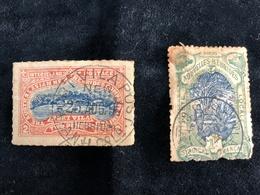 2 Timbres De L'AUSTRALASIAN NEW HEBRIDES COMPANY OBLITERES AVEC CHARNIERES RARES - Timbres-taxe