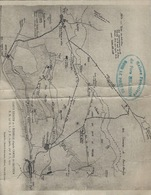Pont A Mousson Bataille De Bois Le Prêtre Double Carte Plan Militaria - Pont A Mousson