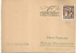 ALEMANIA REICH 1936 JUEGOS OLIMPICOS DE INVIERNO DE GARMISCH PARTENKIRCHEN - Winter 1936: Garmisch-Partenkirchen