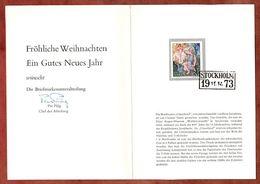 Weihnachtsgabe, Kunst, 1973 (74257) - Briefe U. Dokumente