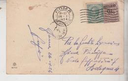 Storia Postale Francobollo Sovrastampato Cent. 10 Del 1924 - 1900-44 Victor Emmanuel III